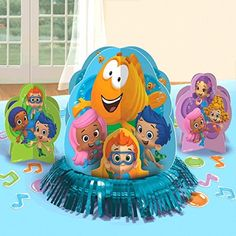 Bubble Guppies Party Table Decorations Kit ( Centerpiece Kit ) 23 PCS - Kids Birthday and Party Supplies Decoration Bubble Guppies http://www.amazon.com/dp/B00U9V751W/ref=cm_sw_r_pi_dp_KIYlvb1E0NJV8