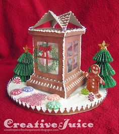 Creative Juice: gingerbread house from Tim Holtz luminary die
