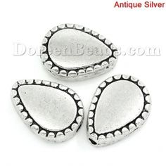 Worldwide Free Shipping Zinc Based Alloy Spacer Beads Teardrop Antique Silver About 10mm( 3/8) x 13mm( 4/8), Hole:Approx 1.5mm, 6 PCs [K03544S] at incredible low price– DoreenBeads.com
