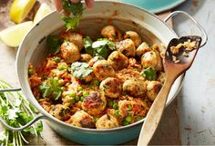 Cajun meatballs with seasoned rice makes for an easy dish with exciting taste