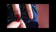 Sashiko: dan tsunagi or connected steps, how to stitch; short video demonstration || Sashiko: dan tsunagi o escalones conectados, breve demostración de cómo bordar este diseño. María Tenorio, Gineceo, 2015