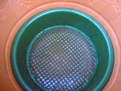 Looking down inside the pot, with a sieve which matches perfectly
