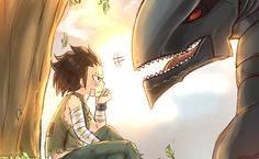 Fairy Tail - Little Gajeel and Metalicana