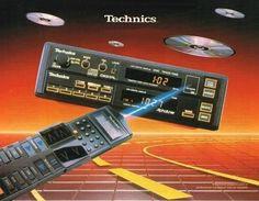 Compact Disc Auto Changer. Technics 1988.  www.1001hifi.com Radios, Radio Antigua, Old School Cars, Compact Disc, Car Audio, Retro, Vintage Cars, Nostalgia, Brochures