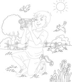 voorbereidend schrijven voor kleuters, thema fotograaf Movie Crafts, Preschool Lessons, Nature Journal, Tv On The Radio, Coloring Pages, Cinema, Hollywood, Film, Projects
