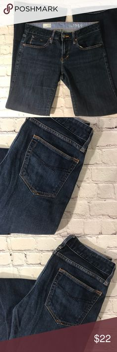 3eabb670 Shop Women's GAP Blue size 28 Flare & Wide Leg at a discounted price at  Poshmark. Description: Like new EUC Dark wash GAP jeans Flare legged  Mid-high rise ...