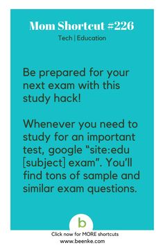 Tech and Education Shortcuts Study better with this practice test hack! Get your daily source of awesome life hacks and parenting tips! CLICK NOW to discover more Mom Hacks. hacks for school High School Hacks, College Life Hacks, Life Hacks For School, School Study Tips, School Tips, School School, Test Hacks, Mom Hacks, 1000 Lifehacks