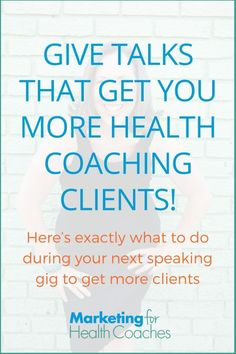 Give talks that get you more health coaching clients! Here's exactly what to do during your next speaking gig to get more clients coach What to Say and Do During Live Talk to Get Program Sign-Ups Bullet Journal Challenge, How To Get Clients, Der Plan, Stress, Detox Program, Feeling Stuck, Injury Prevention, Learning To Be, Trainer