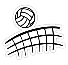 88b020335b38  Volleyball net ball  Sticker by Designzz