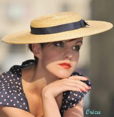 Natural Straw Boater Hat 'Lady London' Boater door AndTheyLovedHats