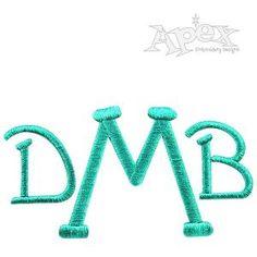 Dakota Embroidery Fonts