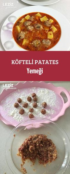 Köfteli Patates Yemeği Turkish Recipes, Salsa, Oatmeal, Breakfast, Foods, Bulgur, Best Recipes, Food Dinners, Food Food