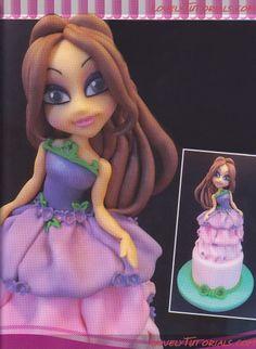 Как слепить фигурку принцессы -How to sculpt gumpaste (fondant, polymer clay)princess figurine - Мастер-классы по украшению тортов Cake Decorating Tutorials (How To's) Tortas Paso a Paso