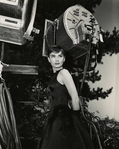 Audrey Hepburn on the set of 'Sabrina', 1954.