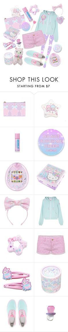 """""""cotton kiss"""" by adolie ❤ liked on Polyvore featuring Cotton Candy, BASTARD, Hello Kitty, TALLY WEiJL, ASOS, pastel and fairykei"""