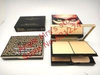 1PCS Polvo de 3 colores de maquillaje profesional Marca polvo 39G Estudio polvo leopardo Polvo Arreglo al por mayor y al por menor marca de cosméticos