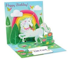 Unicorns - Up With Paper Pop-Up Card