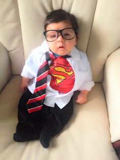 I'm thinking Shae will be baby Superman for Halloween!