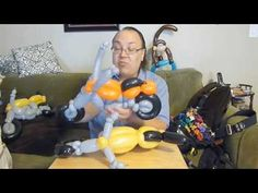 Motorcycle Balloon Animal Tutorial (Balloon Twisting & Modeling #15) - YouTube - by Mr. Boma's Balloons.