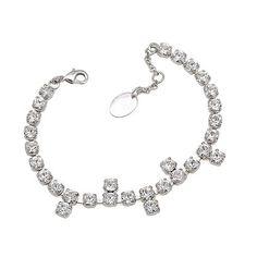 Bijuterii mireasa diademe coliere cercei cristale swarovski accesorii mirese Swarovski Jewelry, Swarovski Crystals, Bracelets, Silver, Fashion, Charm Bracelets, Moda, Bracelet, Fasion