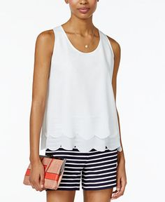 Maison Jules Layered Scallop-Hem Top, Only at Macy's - Tops - Women - Macy's  Now $29.99    Orig. $49.50 EXTRA 20% OFF USE TWODAY code: TWODAY details