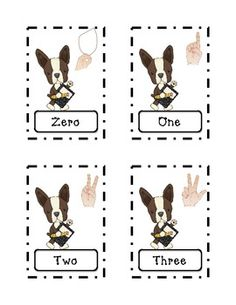 Terriers in the School Dog Themed Number Words and Numeral Sort
