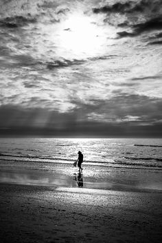 Shell fishing - Florida, United States - Black and white street photography Amalfi Coast, More Pictures, Perfect Place, Street Photography, Florida, United States, The Unit, Sunset, Black And White