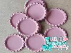Light Pink Double Sided Flattened Bottle Caps