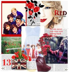 """""""Red By Taylor Swift"""" by silverbird-1 ❤ liked on Polyvore"""