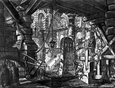 Carceri d'Invenzione, Tavola XVI, Il muro con le catene, 1761, incisione