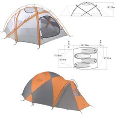 Mountain Hardwear Trango 4 Person Tent Apricot One Size -- Read more reviews of the product by visiting the link on the image.