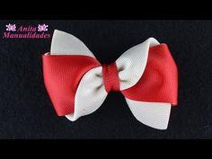 Бантик из ленты Канзаши DIY Kanzashi bow of ribbon Curva da fita Baugen av bånd Nœud de ruban Ribbon Hair Clips, Hair Ribbons, Diy Hair Bows, Making Hair Bows, Diy Bow, Diy Ribbon, Ribbon Crafts, Ribbon Bows, Ribbon Art