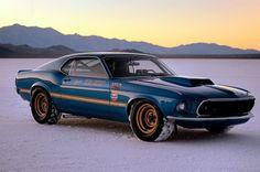 Mickey Thompson/Danny Ongais 1969 Ford Mustang Mach 1 Bonneville Salt Flats ride
