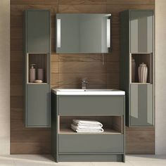 The Hudson Reed Coast 2 Floor Standing Vanity Unit and Basin 2 Wide Grey 1 Tap Hole is a product manufactured by Hudson Reed and identified by the Manufacturer Part Number: Projection (Unit Basin Vanity Unit, Bathroom Vanity Units, Bathroom Furniture, Small Bathroom, Bathroom Ideas, Basin Cabinet, Restroom Ideas, Bathroom Photos, Bathroom Sinks