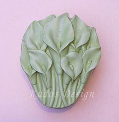 FL016 Calla Lily Soap Mold soap mold silicone soap by Kudosoap