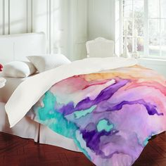 Rosie Brown Color My World Duvet Cover for $230