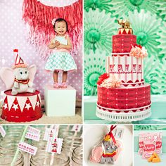 {Attention Disney Lovers!} This Girly Dumbo Inspired Circus First Birthday Party by Lux Events and Design is SO CUTE!