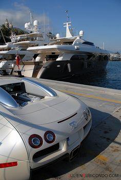 bugatti and boat