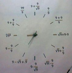 Math clock.