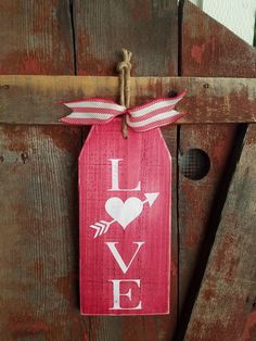 Love Wood Sign. Love gift tag sign, rustic love sign, large gift tag sign, wood gift tag, valentines day sign, rustic wedding decor