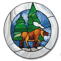Free stained glass moose pattern