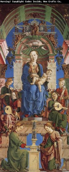 Virgin and Child Enthroned | Cosimo Tura | c. 1475 | oil and egg tempera on poplar | 94 x 40 in | National Gallery, London, UK