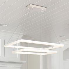 VONN Lighting VMC31710SW Atria Duo 29-inch Integrated LED Chandelier in White