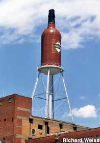 Old Forester Bourbon Bottle Water Tower  Louisville, KY