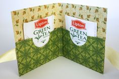 """template for making """"tea"""" cards/gift card holders"""
