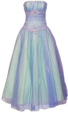 Beaded Mesh Fairy Prom Dress Formal Ball Gown | Bridal Gowns