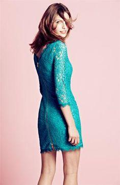 Cute! Diane von Furstenberg Zip Lace Dress