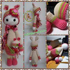 KIRA the kangaroo made by Rose K. / crochet pattern by lalylala