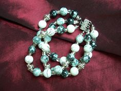 Three Strands of Grey Handmade Bracelet by ReprievesCorner on Etsy, $14.99