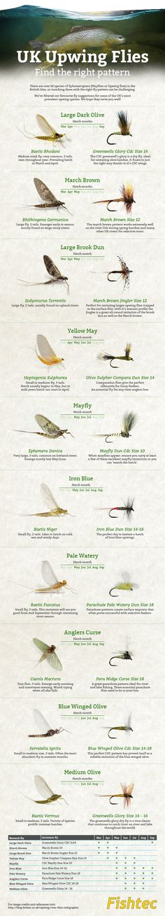 Fly fishing infographic upwing flies UK from Fishtec, well done guys this is great info. (scheduled via http://www.tailwindapp.com?utm_source=pinterest&utm_medium=twpin&utm_content=post144329837&utm_campaign=scheduler_attribution)